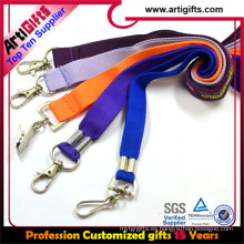 Custom cheap promotion double hook lanyard with logo printed