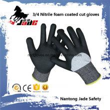 13G 3/4 Nitril-Schaum beschichtetes, schutzfestes Sicherheitshandschuh Level Grade 3 und 5