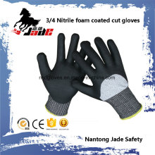 13G 3/4 Nitrile Foam Coated Resistant Safety Luve Nível Nível 3 e 5