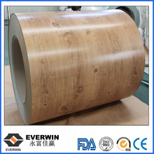 Wood Grain Coloured Aluminium Coil Sheets For Decoration