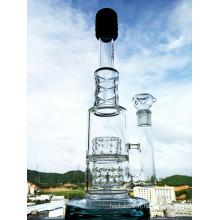 Nouvelle conception 17 pouces Hauteur Pneus Perc Borosilicate Glass Water Pipe