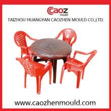 Silla de inyección de plástico / molde de mesa con conjunto completo