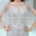 2017 auf lager artikel luxus schwere perlen abendkleider sexy schatz kragen silber abendkleid mit kleinen schwanz