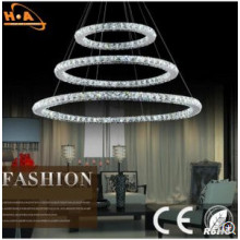 American Villa Staircase Crystal Pendant Lamp for Hotel