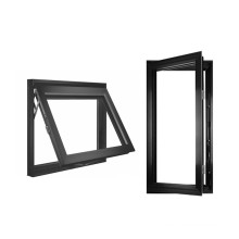 Glass Casement Windows with Tilt and Turn Single Double Outward Inward Aluminum  casement window Awning Hinge Swing French Door