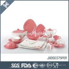 conjunto de cena de porcelana flor curación