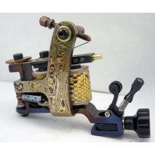 New Damascus tattoo machine tattoo gun Shader 10wrap