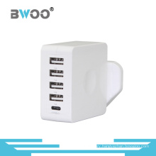 Four USB Wall Charger with UK Us EU Plug
