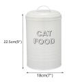 Boîte de rangement pour aliments pour animaux de compagnie avec cuillère de service