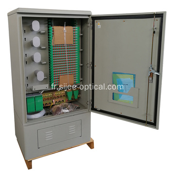 576 fibres IP65 Outdoor Street Optic Cross Cabinet
