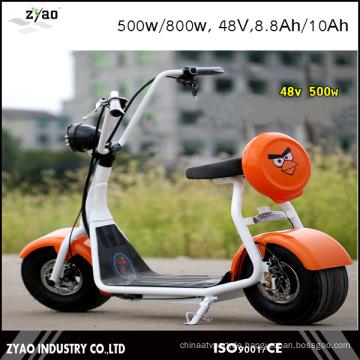 2016 Neueste zwei Räder bunte kundengerechte Citycoco elektrische Roller 800W / 1000W Batterie