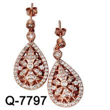 Серьга обруча ювелирных изделий стерлингового серебра 925 для женщин (Q-7797)