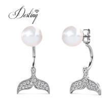 Fashion Jewelry Design Ocean Mermaid Tail Pearl Stud Earrings