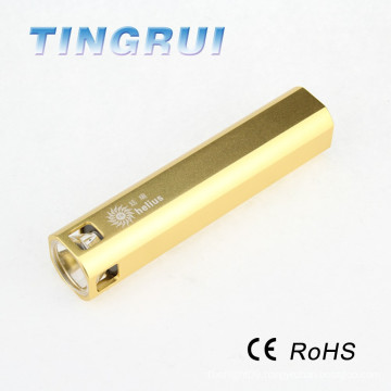 High power rechargable LED power bank aa battery torch