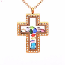 Fashion handmade craft jesus cross lockets pendant jewelry
