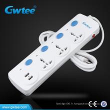 Prise de portée du port USB 2.1A / 3 A avec interruption de circuit pour Iphone / Ipad