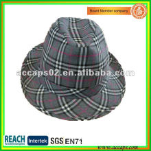 2013 cheap checked fedora hats ST1270 for men