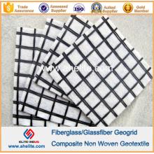 Géogrille en fibre de verre Polyester Geogrid Composite PP Pet Non-White Geotextile