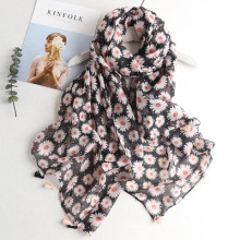 Agradable longitud completa y cómoda Summer tribal pattern womens latest nuevo diseño impreso pañuelo bufanda patrón