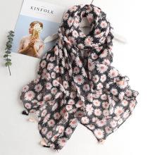Comprimento total agradável e confortável verão tribal padrão das mulheres senhora mais recente novo design impresso cachecol padrão lenço