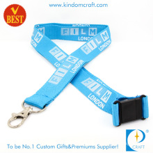 High Quality Neck Nylon Sublimation Heated Transfer Printing Polyester Lanyard with ID Card Holder Custom Logo Ribbon for Sale