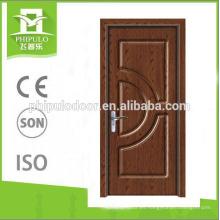 Últimos diseños mdf pvc puerta de madera recubierta puertas de madera baratas