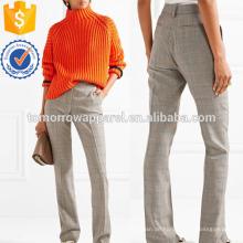Wolle Straight-Bein Hosen Herstellung Großhandel Mode Frauen Bekleidung (TA3035P)