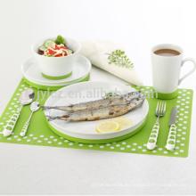 Juego de cena de porcelana de cerámica con base de silicona antideslizante