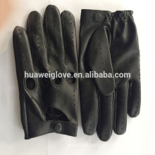 100% Genuine Leather Motorcycle Sheepskin Mens Driving Gloves Full finger