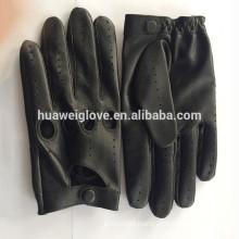 100% Genuine Leather Motorcycle Sheepskin Mens Driving Gloves Full finger