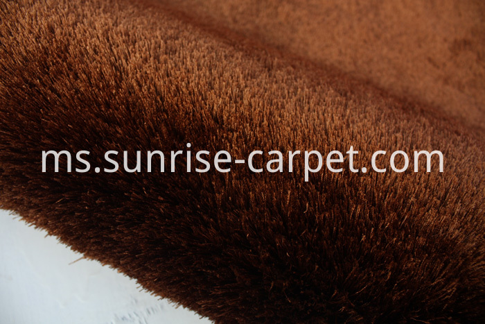 Silk Shaggy Polyester Thin Yarn Brown