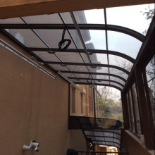 strong aluminium canopy covered with solid polycarbonate sheet