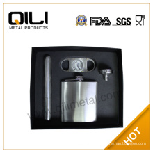 hip flask wine accessories charm box gift set|hip flask with cigar gift for man