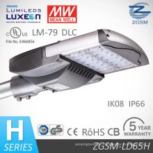 IP66-Modul entwickelt, 65 Watt Solar LED-Straßenleuchte mit UL Dlc optischem Sensor