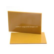 Panneau de fibre de verre de stratification de résine époxy jaune 3240 3mm