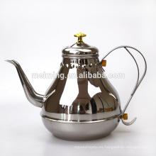 Tetera del té del acero inoxidable 1.2 / 1.8L al por mayor, caldera de té