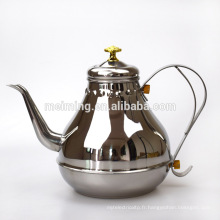 Pot de thé en acier inoxydable de 1.2 / 1.8L en gros, bouilloire de thé