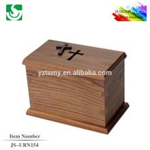 urnas de madera sólidas para la cremación JS-URN154