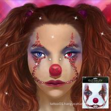 Masquerade Makeup Tattoo Sticker Halloween Scary Skeleton Rhinestone Face Jewel  Diamond Sticker for Sugar Skull Halloween