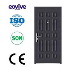 Modèle de porte de sécurité fabriqué en conception de porte en acier de la Chine grill