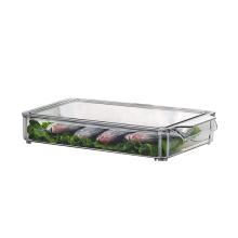 Caja de almacenamiento de alimentos de cocina apilable de plástico