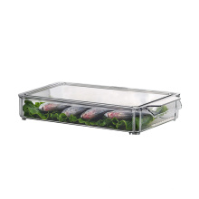Caixa de armazenamento de alimentos empilhável de plástico para cozinha