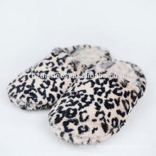 Indoor Pantoffel für Frau Leoparden Plüsch Haus Pantoffeln