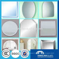 silver and aluminum frameless Mirror with polished bevel edge