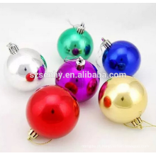Decoração decorativa decorativo de bola de xmas de plástico decorativo