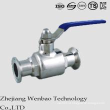 Válvula de esfera sanitária 2PC com extremidades de braçadeira para água portátil