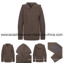 Prénatale Fashion Design haut de gamme pur Cachemire tricot avec décoration en cuir