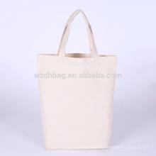La bolsa de asas reutilizable vendedora caliente de las compras del algodón de la lona del ultramarinos del color para la promoción, el supermercado y la publicidad