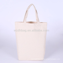 Hot Selling Reusable Natural Color Grocery Canvas Cotton Shopping Tote Bag For Promotion, Supermarket And Advertising