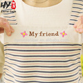 Multifunctional recycling color printing waterproof cotton kitchen aprons wholesale
